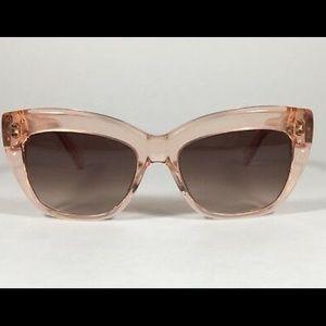 Kate Spade Cat Eye Clear Pink Sunglasses